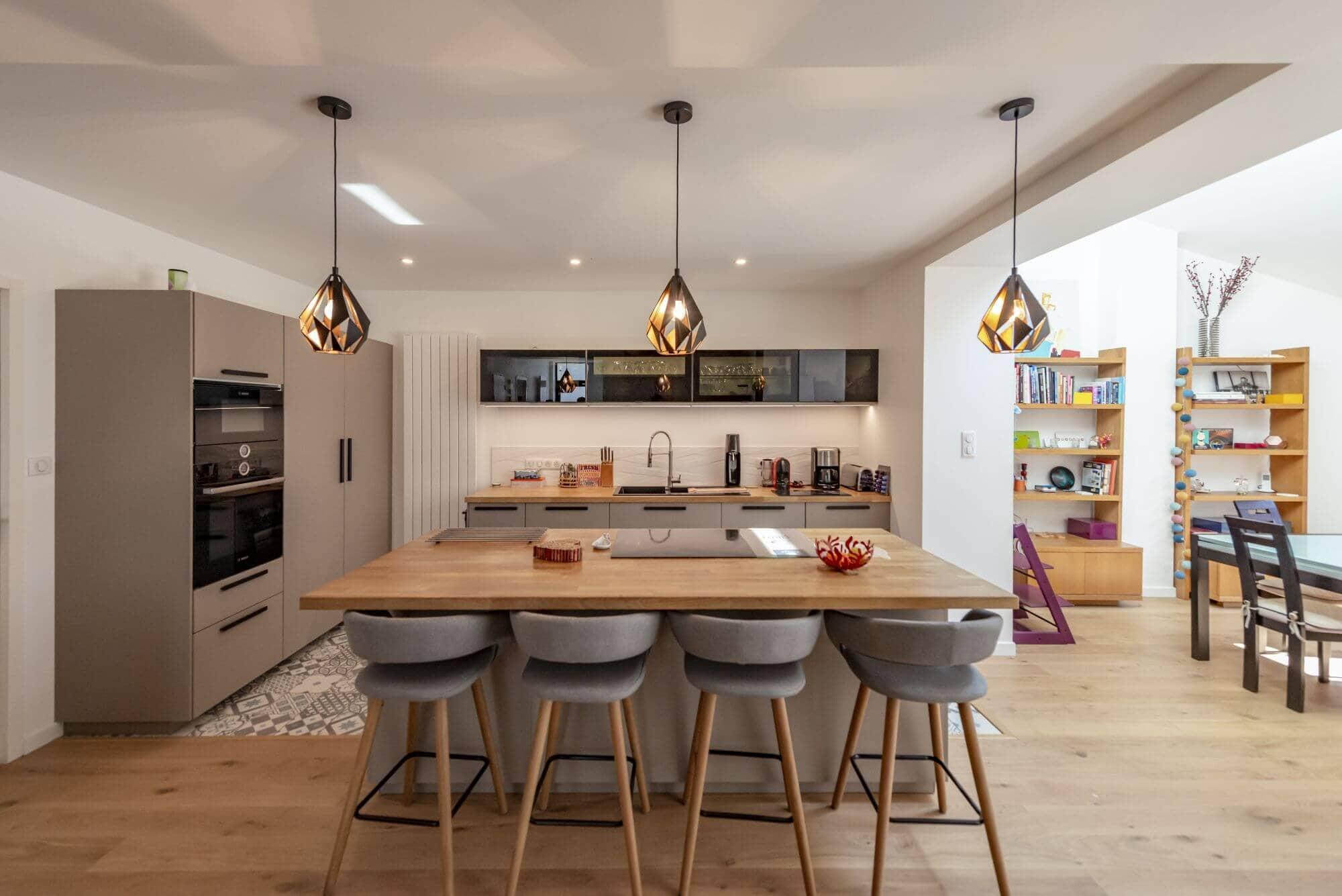 Cuisine, Cuisine Ouverte, Rénovée, Maison, Amidonniers