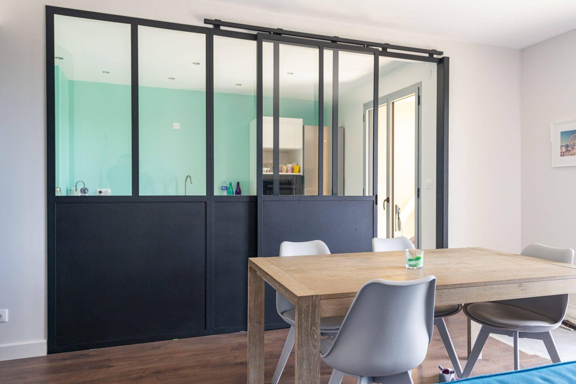 Appartement réalisé, Quartier Saint Exupéry, Toulouse, Rénovation, Verriere