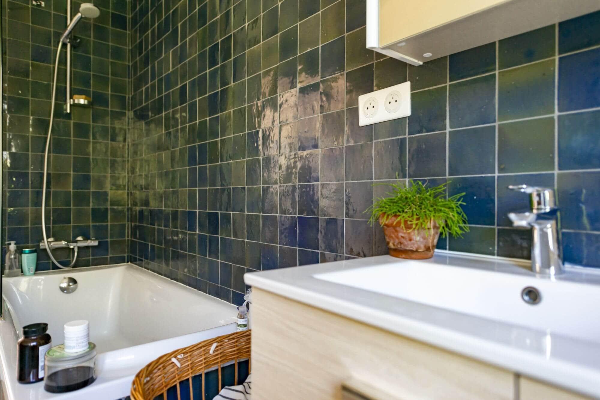 Zellige, salle de bain, Maison, Rénovée, l'ormeau, Toulouse