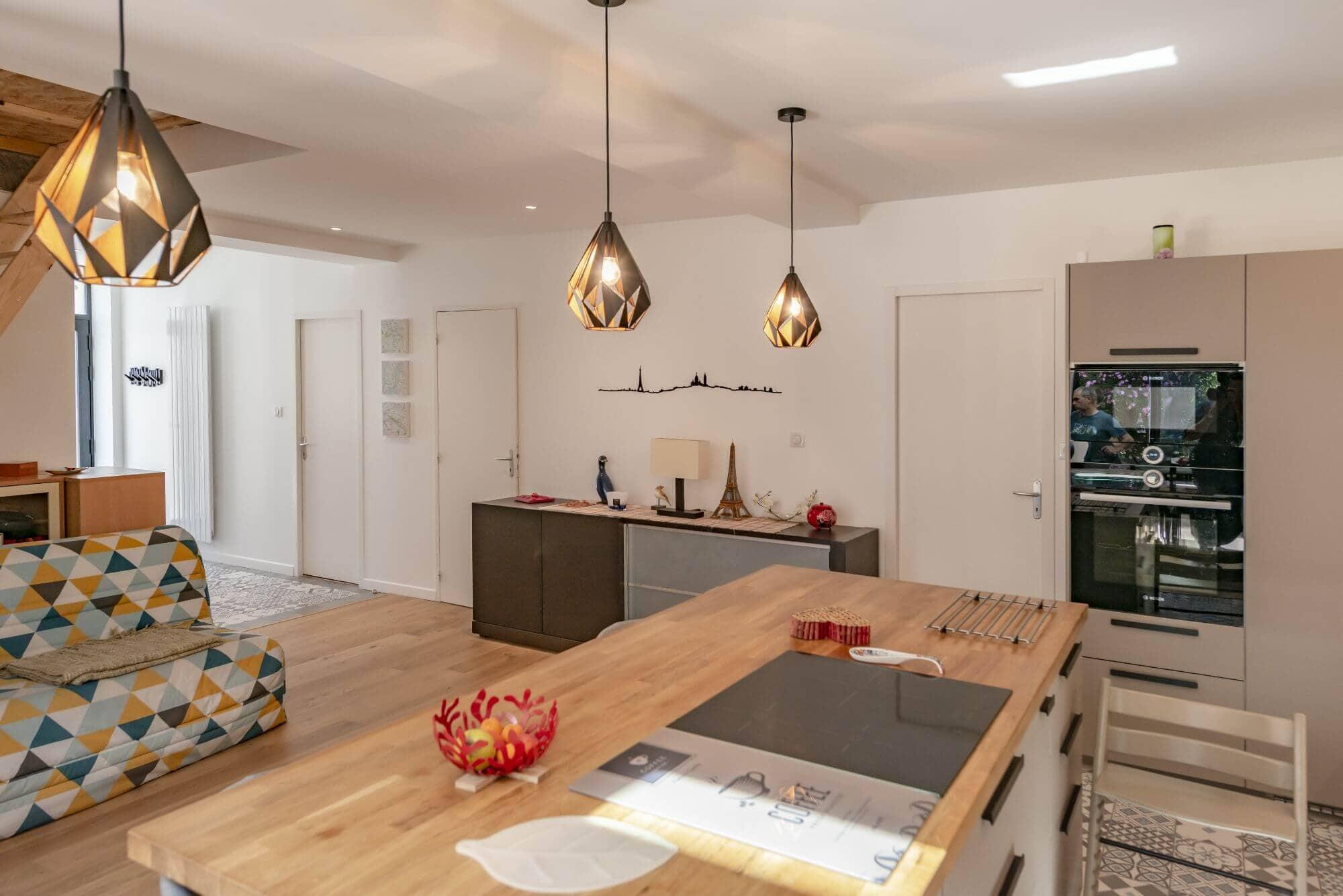 Cuisine, Salon, Rénovation, Quartier Amidonniers