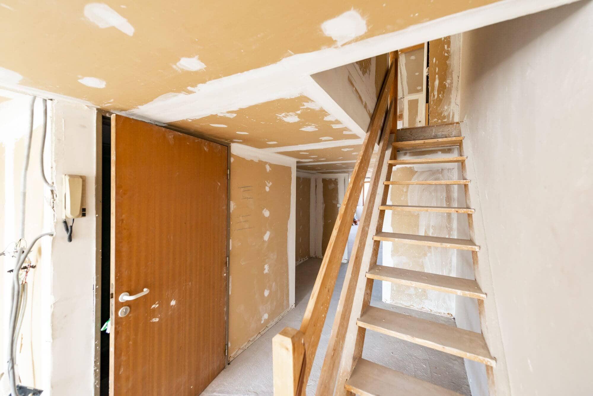 Escalier, Avant travaux