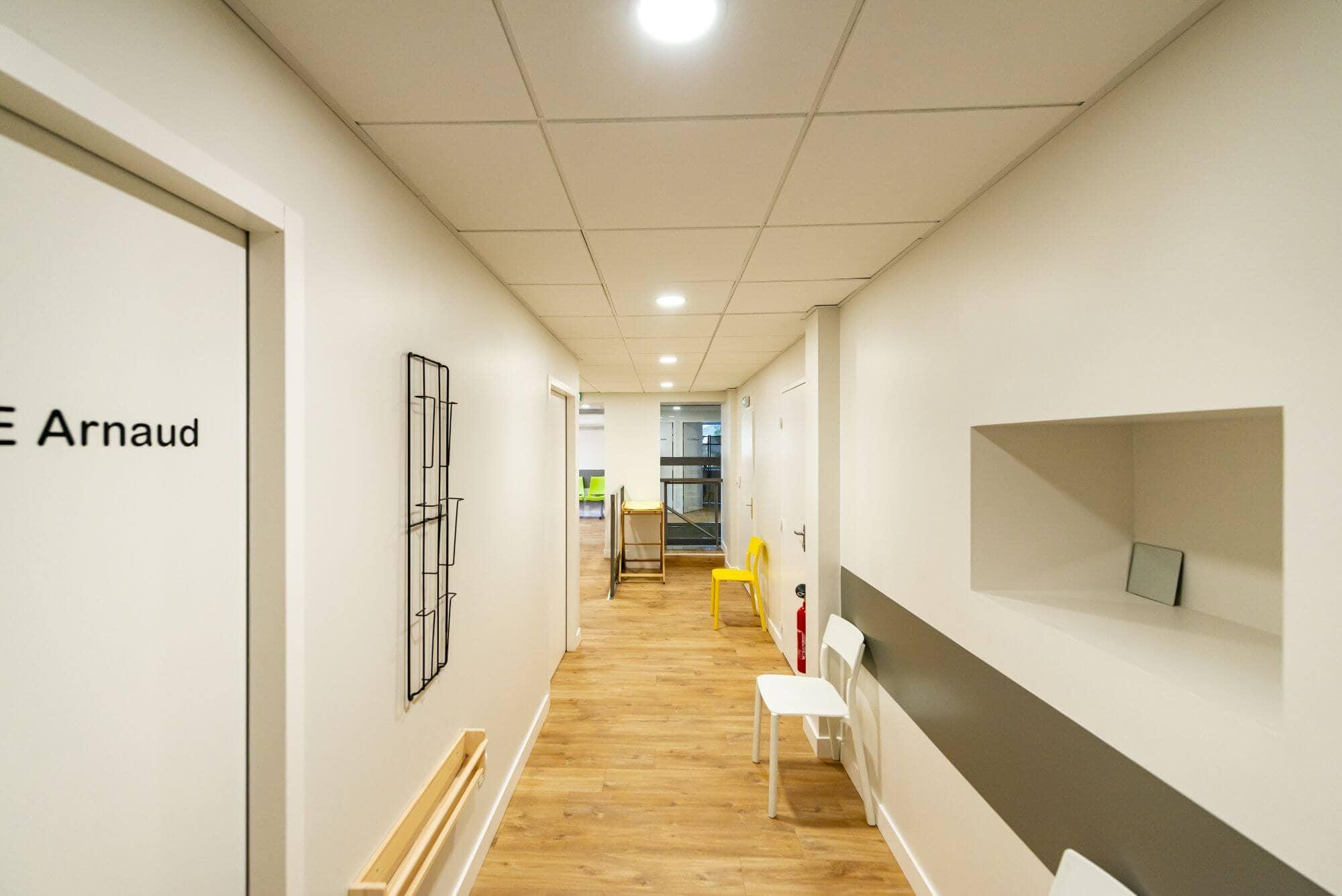 Couloir cabinet médical,