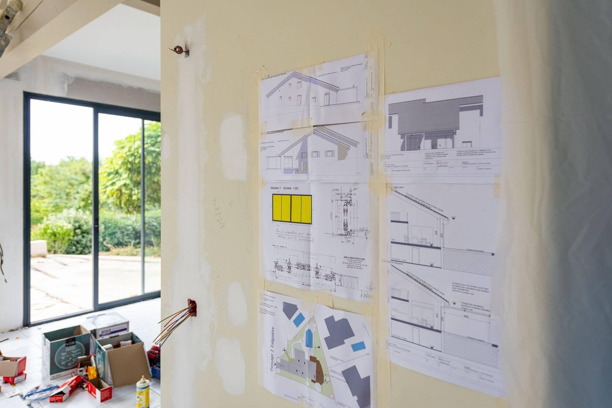 Déclinaisons plan Architecte, plans architecte, plan architecture