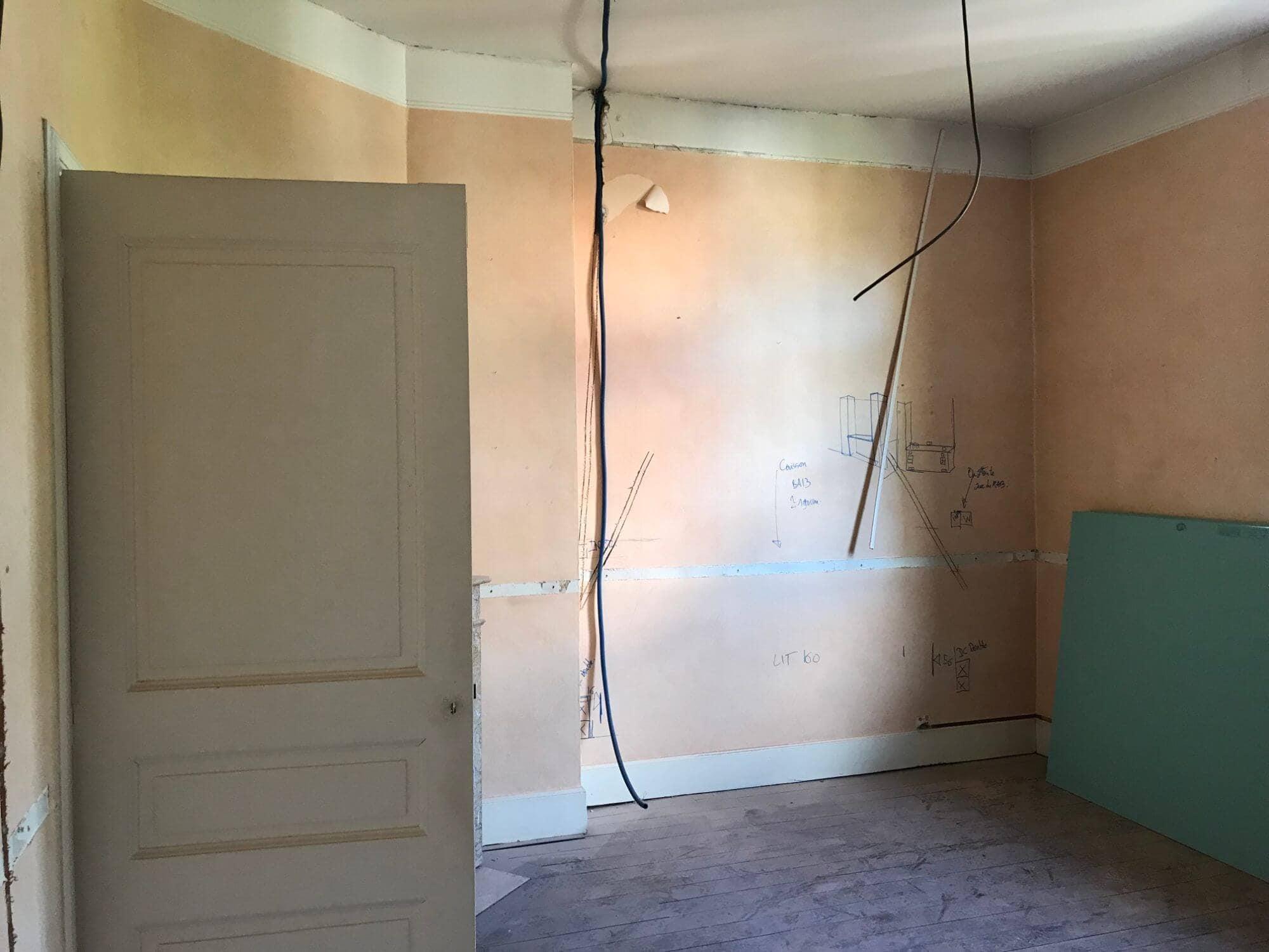 Tete de lit, Chambre, Rénovation