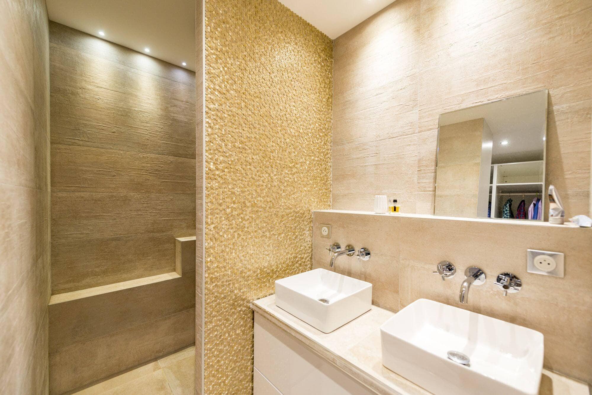 Salle de bain, Double vasque, rénovation, Toulouse, Saint Exupéry