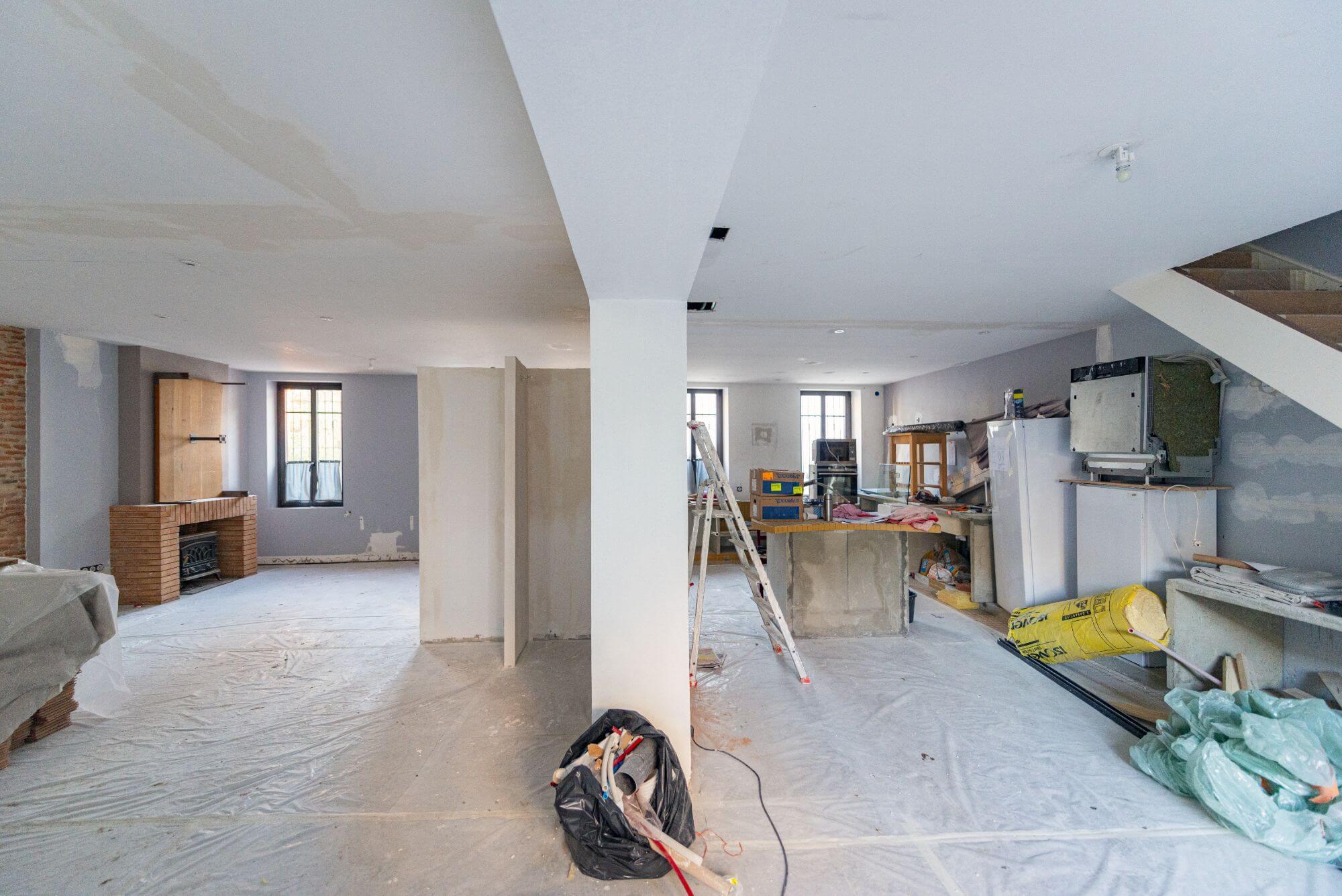 Travaux, Renovation, Salon, cuisine